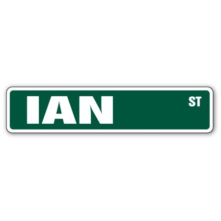 Ian Street Sign Name Childrens Room Door Gift Kid Child Boy Girl Wall Entry