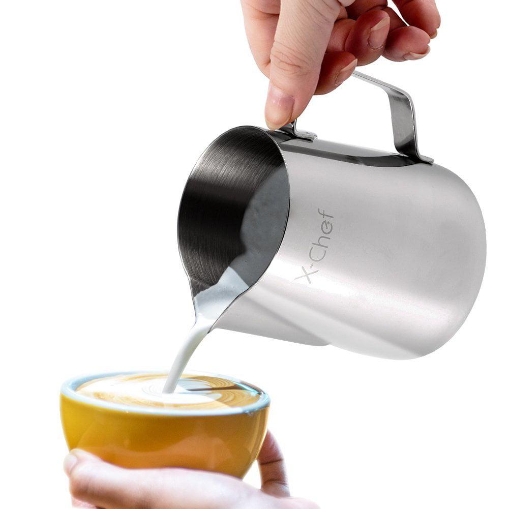 betterhome stainless steel milk cup milk frothing pitcher milk walmartcom