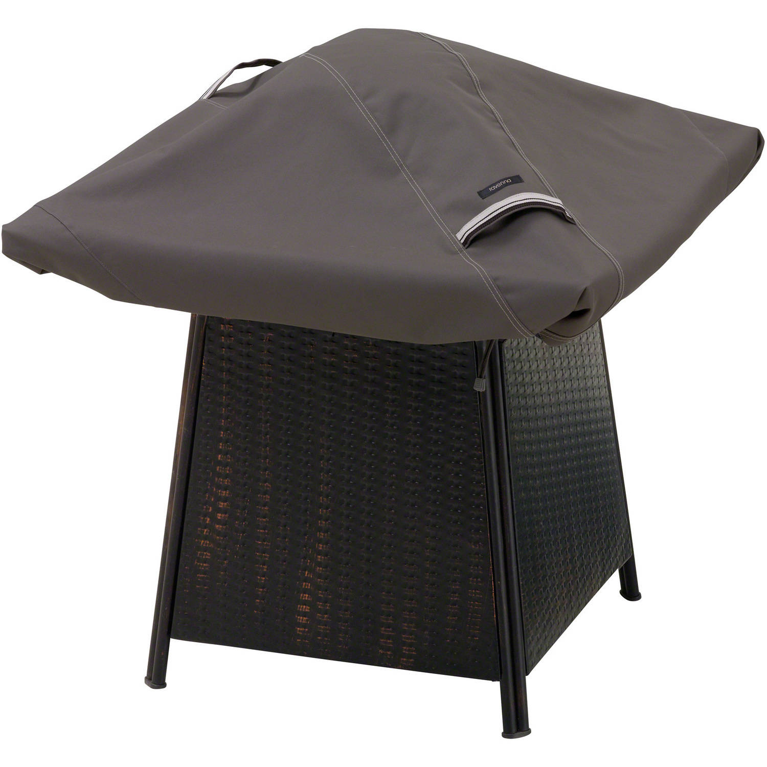 "Classic Accessories Ravenna Square Fire Pit Patio Storage Cover, Fits up to 40"", Taupe"