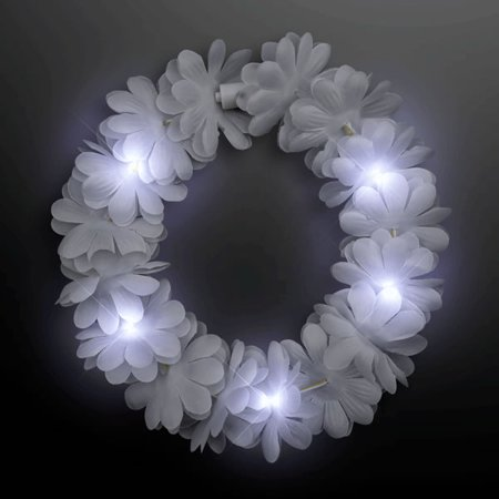 Light Up Flashing Wedding White Flower Princess Angel Halo Crown Headband by Blinkee
