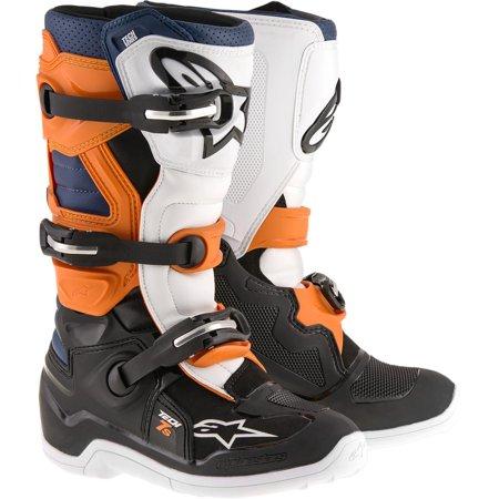 Alpinestars Tech 7S Youth Boots Black/Orange/Blue (Black, 3) Alpinestars Tech 6s Youth Boots