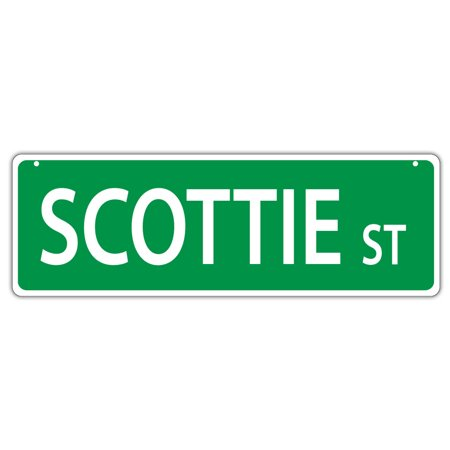 Plastic Street Signs: SCOTTIE STREET (SCOTTISH TERRIER) | Dogs, Gifts
