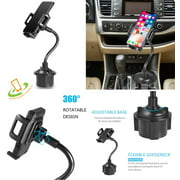 Universal Adjustable Long Arm Gooseneck Phone Cup Holder Car Mount For All Smartphones Tablet GPS 360° Rotatable Cradle Suction Car Cup Mount Cell Phone Holder / Stand With Quick Release Button