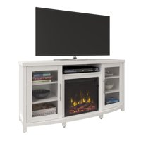 Product Image Sea Meadow White Tv Stand For Tvs Up To 60 With Electric Fireplace