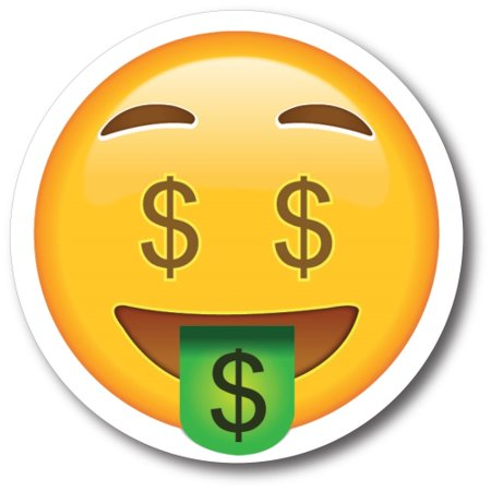 Dollar Sign $$ Tongue Out Emoji Magnet 5