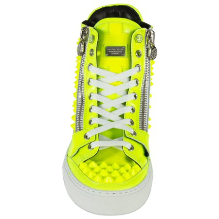 Best Philipp Plein Clever Hi-Top Sneakers | Yellow Leather deal