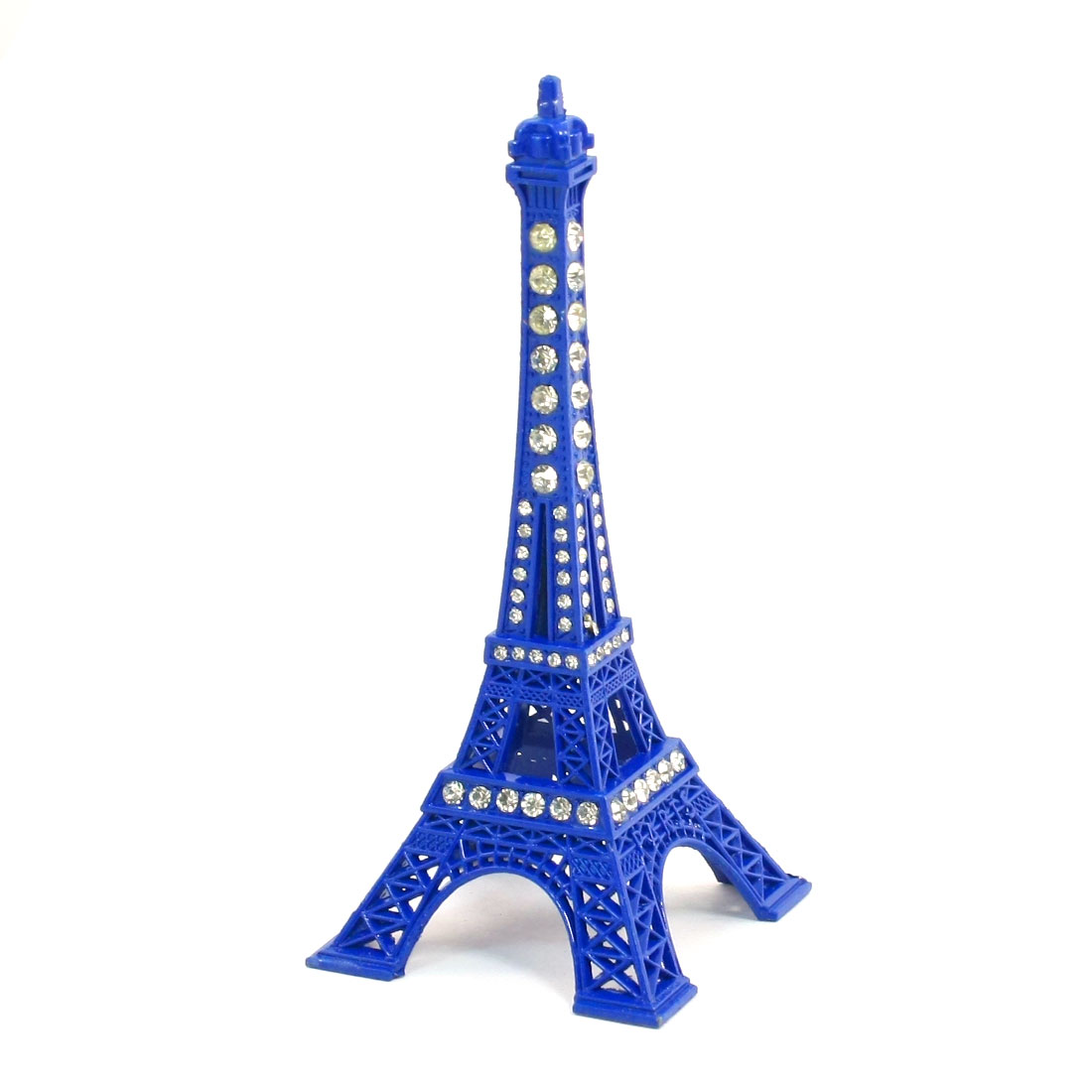 Blue Clear 3D Metal Eiffel Tower Style Model Gift Decoration