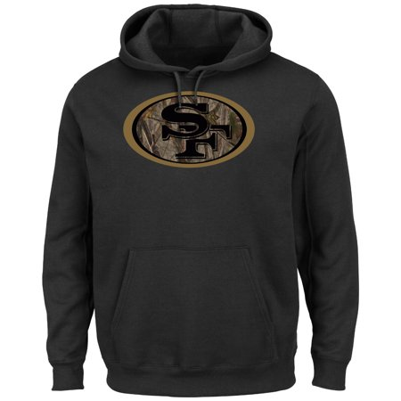 San Francisco 49Ers Majestic Nfl  Camo Tek Patch  Mens Hooded Sweatshirt