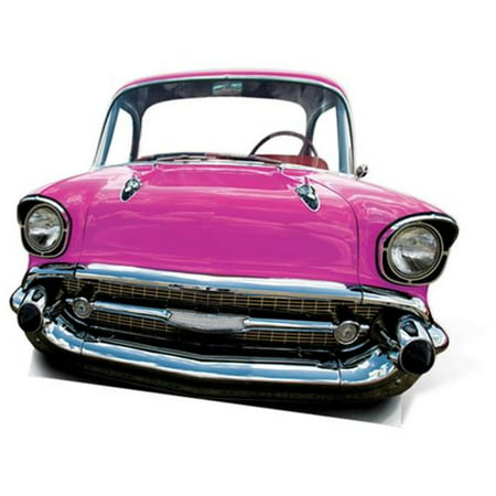 Star Cutouts SC85 Pink Car Large Stand-In Cardboard Cutout - Cardboard Car Cutouts