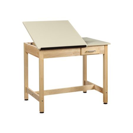 Shain 30 in. Drafting Tables with 2 Piece Top