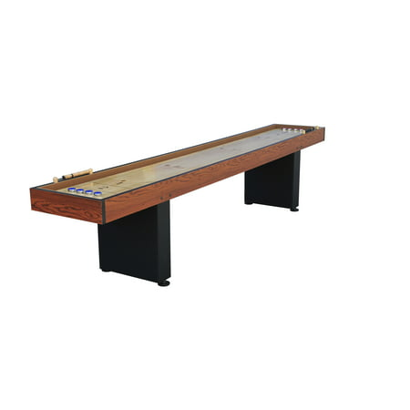 Airzone 9 ft Natural Pinewood Shuffleboard Table with Manual Scoring