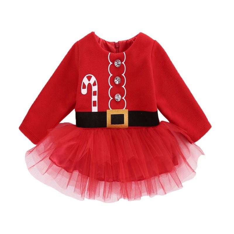 UK Christmas Toddler Baby Girl Princess Clothes Tutu Dress Xmas Party Dresses