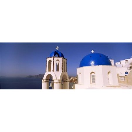 Church with sea in the background  Santorini  Cyclades Islands  Greece Poster Print by  - 36 x 12 - image 1 de 1