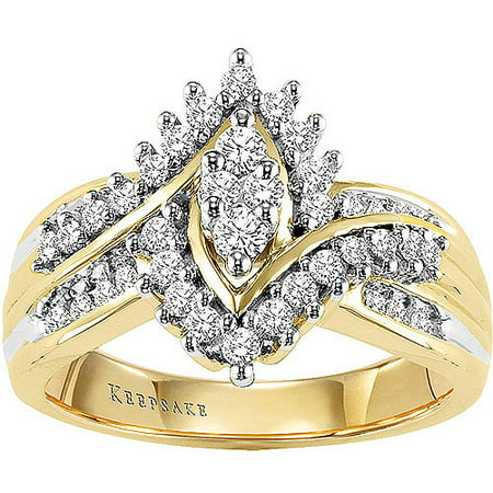Shimmering 1/2 Carat T.W. Certified Diamond, 10kt Yellow Gold Ring](Toy Diamond Rings Bulk)