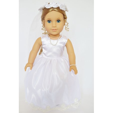 My Brittany's Victorian Lace Communion Gown For American Girl Dolls