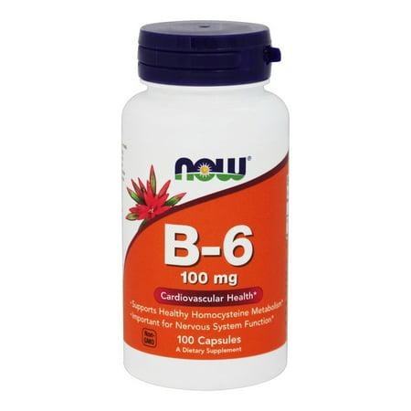NOW Foods - Vitamine B6 100 mg. - 100 Capsules