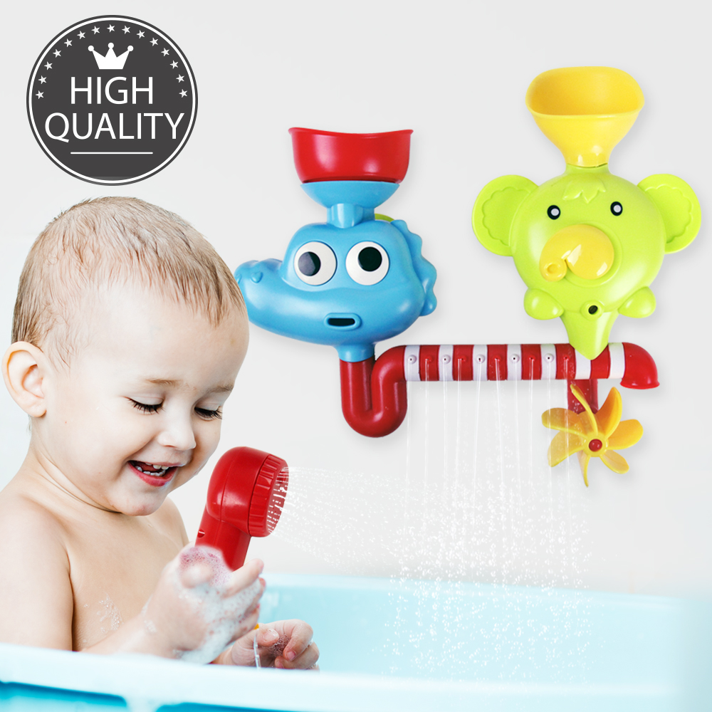 Eutuxia Baby Bath Toy. Submarine, Dinosaur & Elephant Water Spray ...