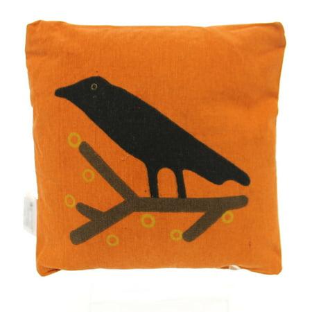 Halloween CROW PILLOW Fabric Black Bird Primitive 22612](A Big Black Bird Halloween)
