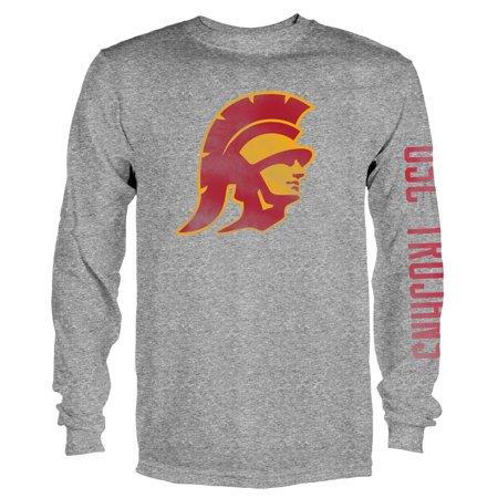 Gray Long Sleeve Tee (Men's Gray USC Trojans Notion Long Sleeve T-Shirt )