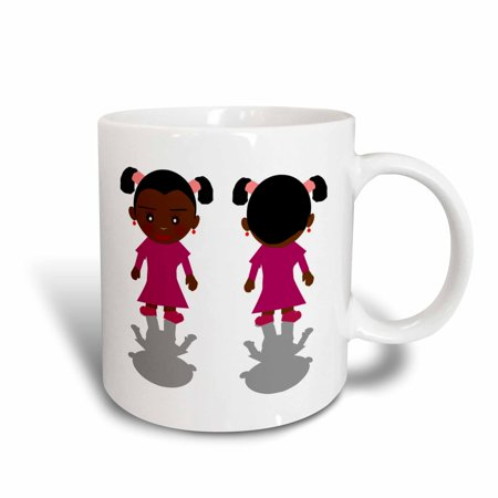 3dRose African American Little Girls, Ceramic Mug, 11-ounce