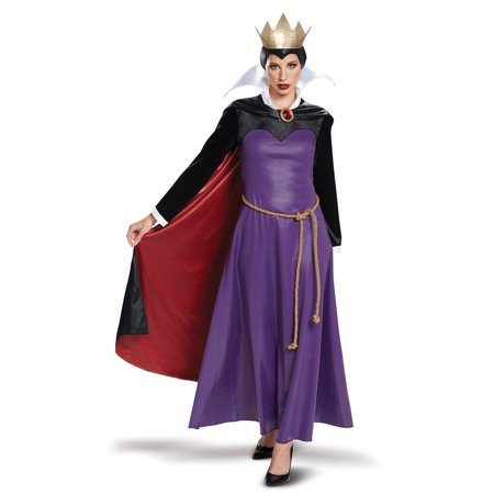 Disney Villains Evil Queen Deluxe Adult Halloween Costume - Villain Couple Costumes