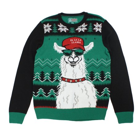 Ugly Christmas Sweaters Unisex Xmas Fa La La Llama Sweatshirt](Couple Christmas Sweaters)