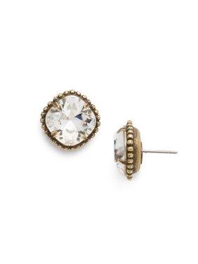 Cushion-Cut Solitaire Earring - Sorrelli Essentials