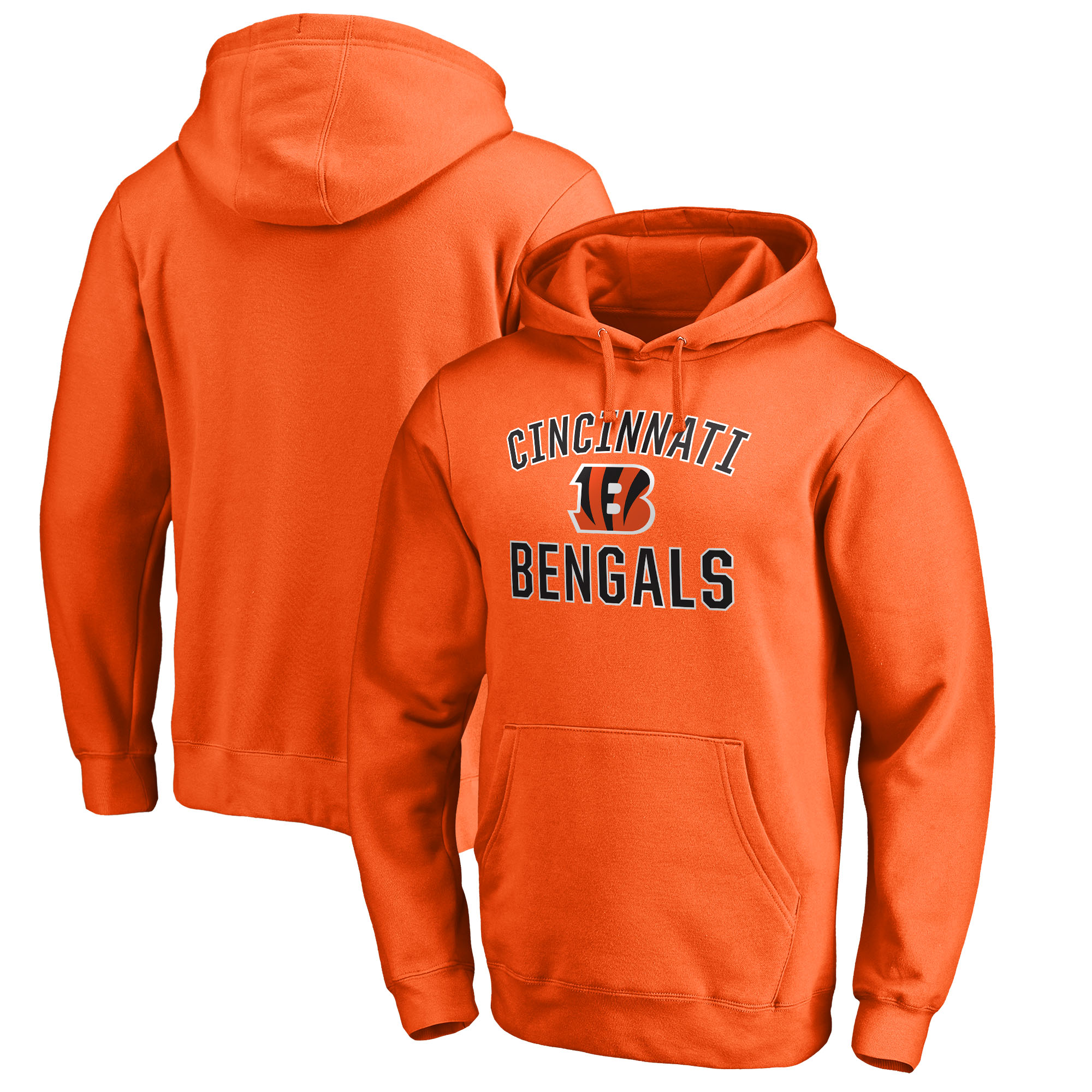 Cincinnati Bengals NFL Pro Line by Fanatics Branded Big & Tall Victory Arch Pullover Hoodie - Orange
