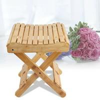 EOTVIA Bamboo Folding Stool,Natural Bamboo Folding Chair Foldable Shaving Shower Foot Rest Stool ,Folding Chair