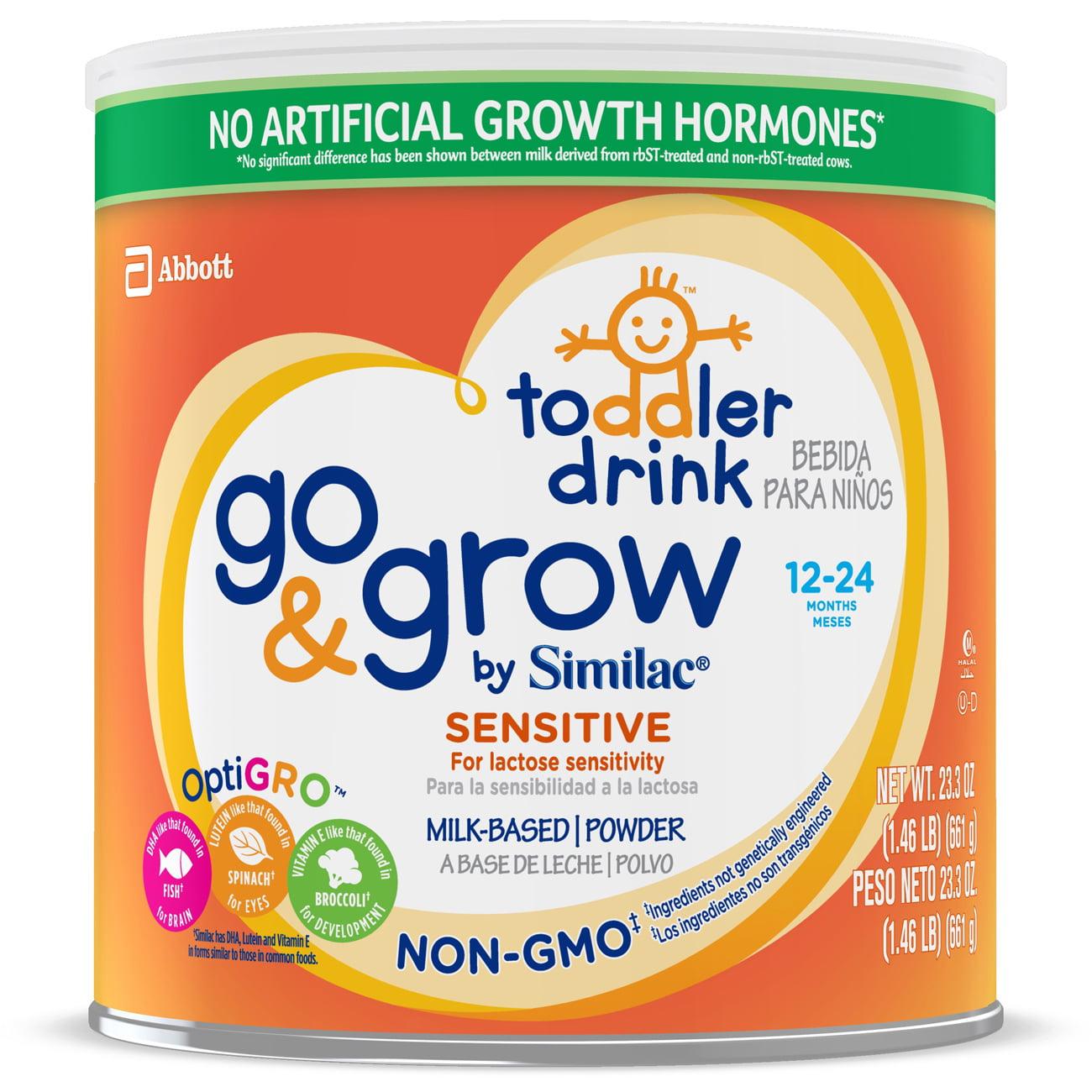 Go & Grow by Similac Sensitive Non-GMO Milk Based Toddler Drink, For Lactose Sensitivity, 24oz