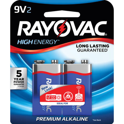 Rayovac Alkaline Multi-Pack 9V Batteries, 2-pack