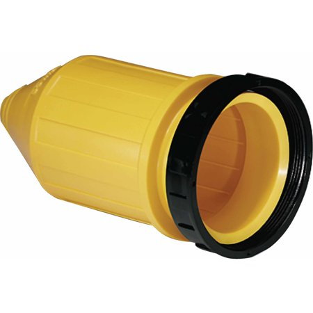 Marinco 7715CRN Weatherproof Cover with Threaded Sealing Ring For Use with 6360CRN or 6364CRN 50A Female Connectors ()