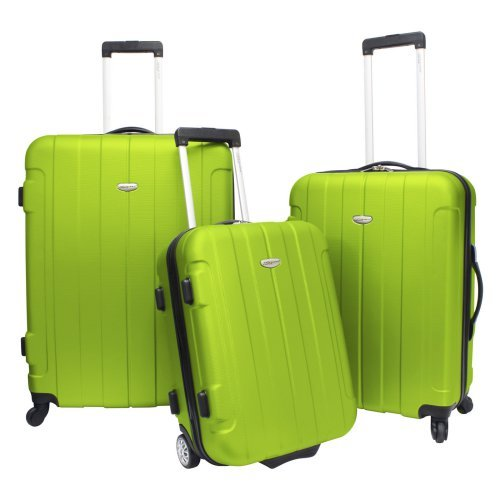 Travelers Choice Rome 3 Piece Lightweight Hardside Spinner & Roller Luggage Set