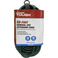 Hyper Tough 50' 16/3 SJTW Green Extension Cord
