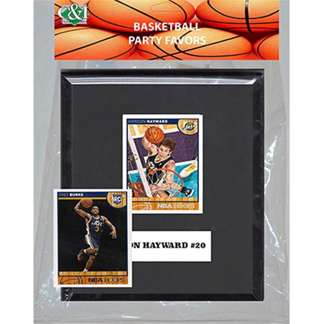 Candlcollectables 67LBJAZZ NBA Utah Jazz Party Favor With 6 x 7 Mat and Frame