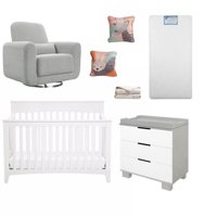Product Image 7 Piece Nursery Furniture Set In Gray And White