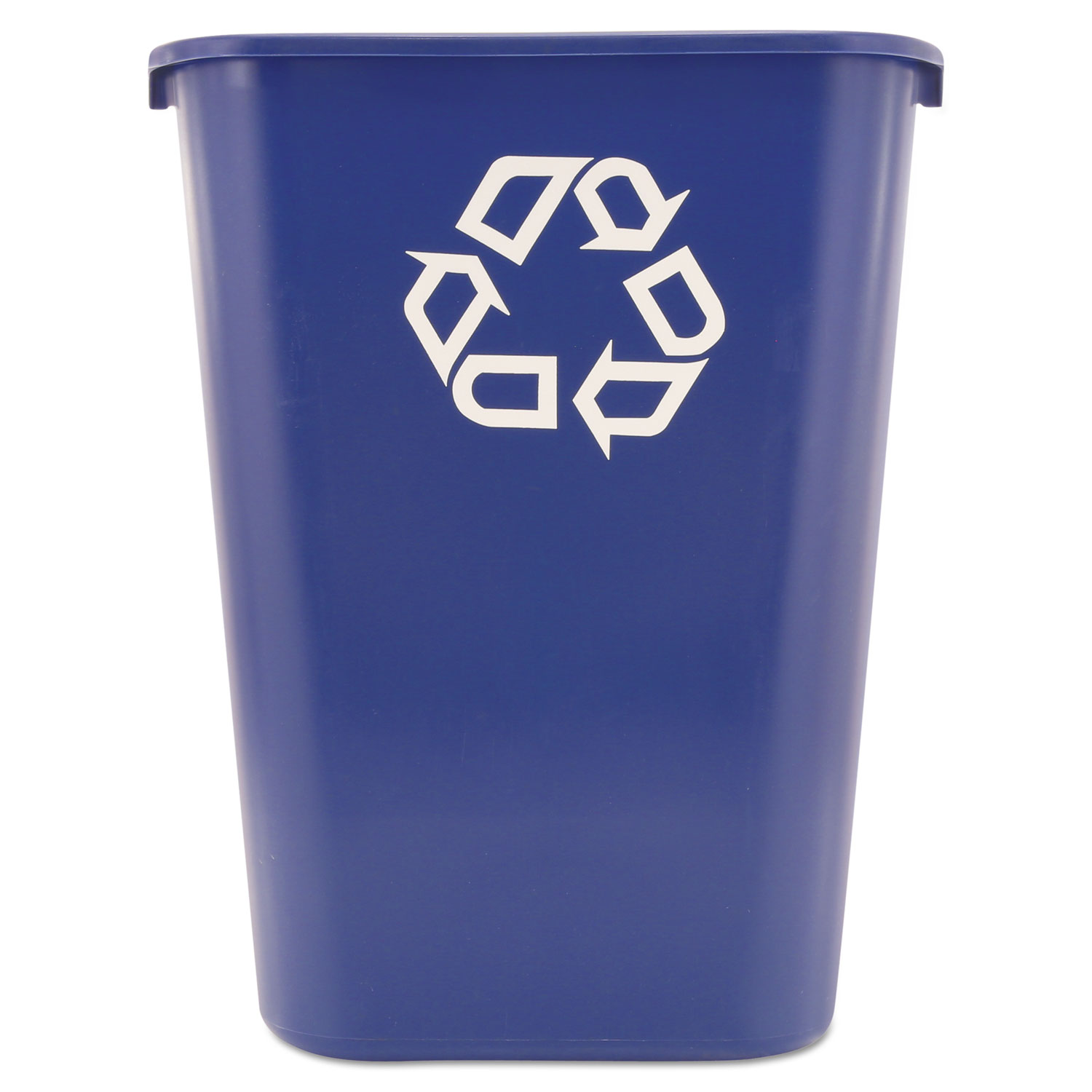 Rubbermaid Commercial Small Deskside Recycling Container one recycling container Rectangular Blue Plastic by Rubbermaid Commercial 13 5//8 qt