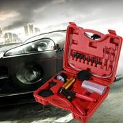 YLSHRF Vacuum Pump Bleed Kit,Brake Bleeder Tester Set,HAND-VACUUM-PUMP-HELD-BRAKE-BLEEDER-TESTER-SET-BLEED-CAR-MOTORBIKE-BLEEDING-KIT