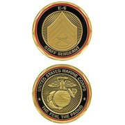 USMC MARINE CORPS STAFF SERGEANT SSGT E-6 CHALLENGE COIN THE FEW THE PROUD