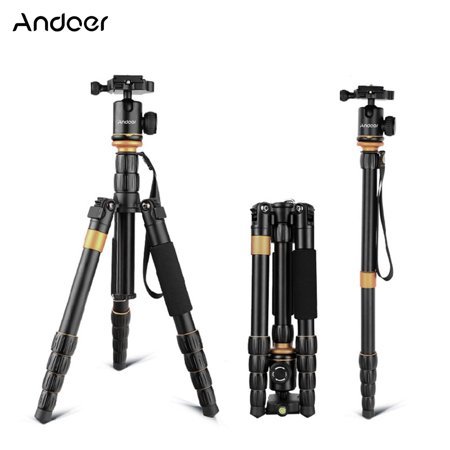 Andoer Professional Foldable Detachable Adjustable Photography Digital Camera Camcorder Video Tripod Monopod Ball Head for Canon Nikon Sony Panasonic