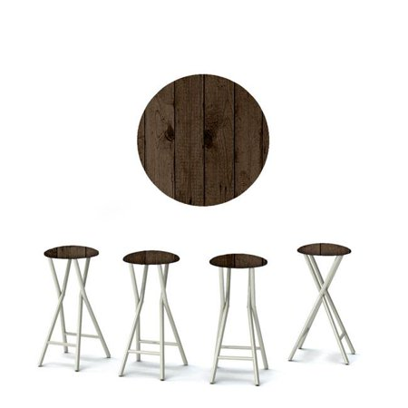 Best of Times Dark Wood Outdoor Bar Stools - Set of