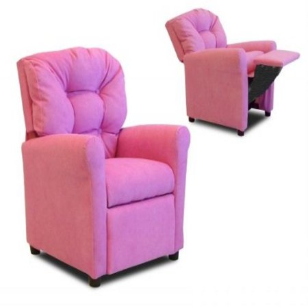 Four Hot Pink Microsuede Casual Child Recliner Chair Photo
