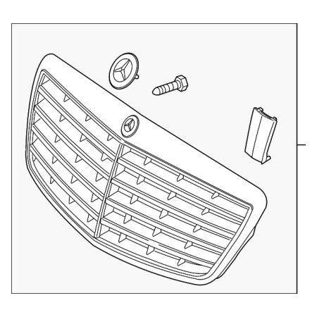 Genuine OE Mercedes-Benz Grille Assembly 221-880-05-83