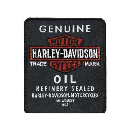 Harley-Davidson Embroidered Genuine Oil Emblem Patch, 3.25 x 3.875 in EM212302, Harley Davidson