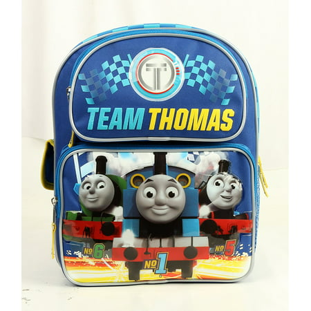 "Small Backpack - Thomas the Tank - Blue w/Friends 12"" Bag New 850033"