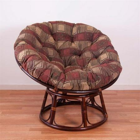 International Caravan Bali Papasan Jacquard Cushion Chair