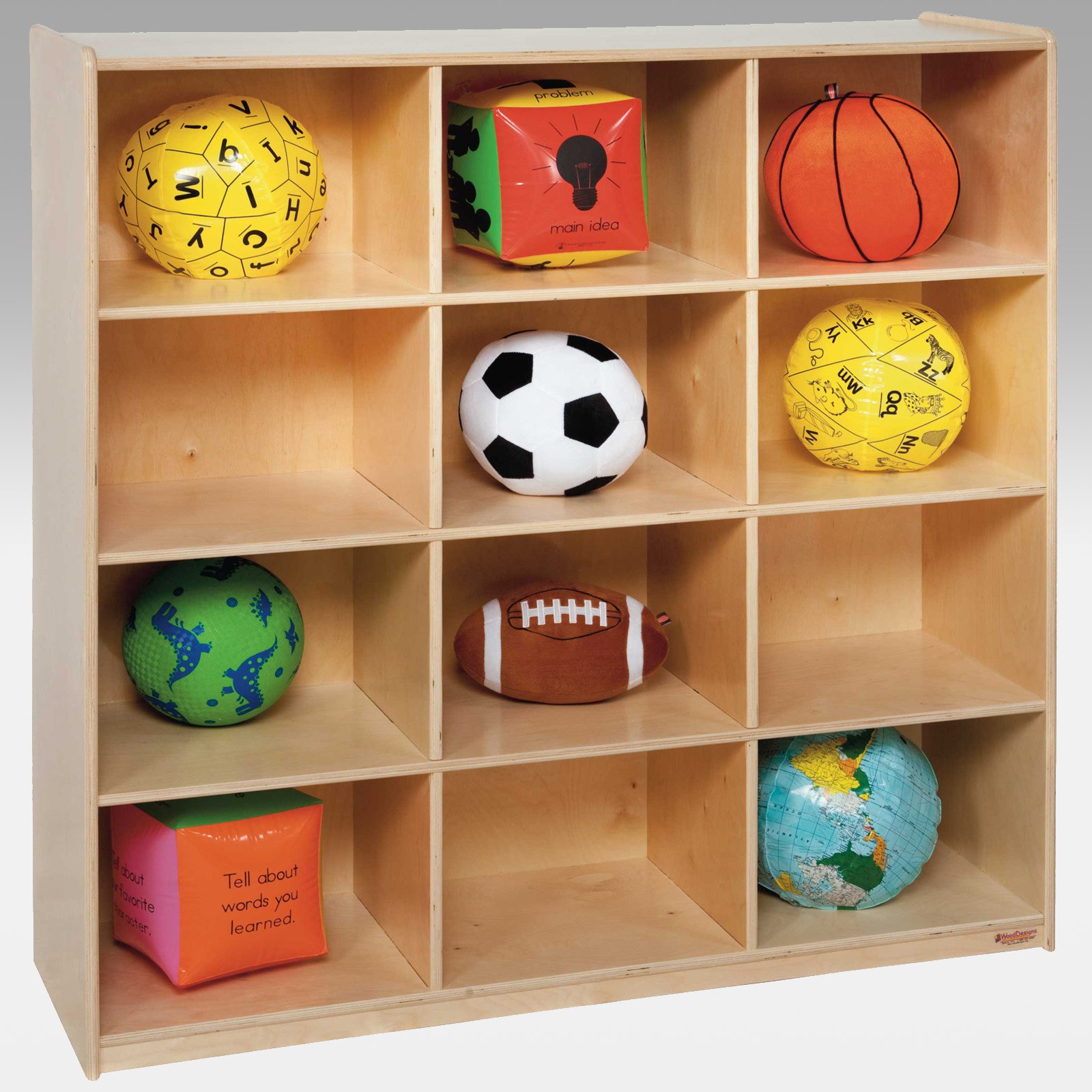 Wood Designs 12 Big Cubby Storage