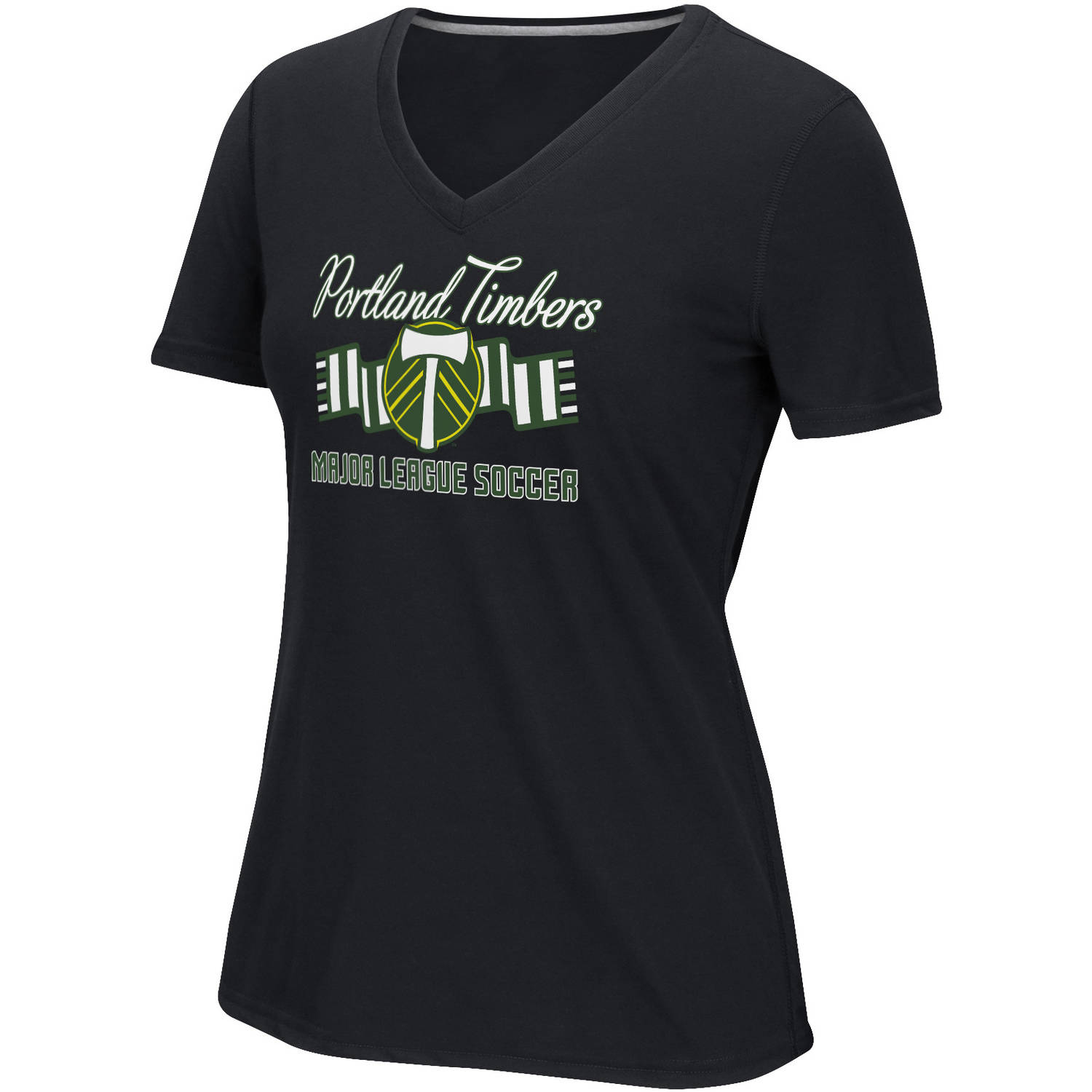 MLS-Portland Timbers-Women's Middle Logo Scarf Tee