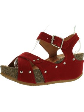 d83ba9efe49 Product Image FOREVER FREYA-23 Womens Cork Look Platform Ankle Strap Low  Wedge Sandals