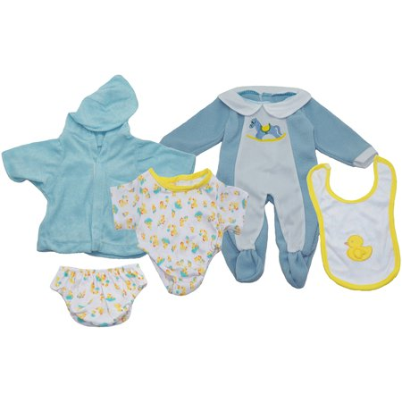 Get Ready Kids Baby Boy Doll Clothes Set, 3 -